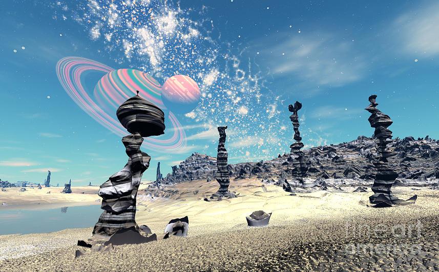 Rock Termites Digital Art