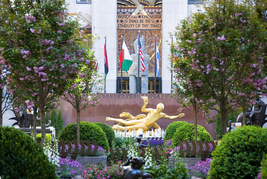 Rockefeller Center Nyc In Spring Photograph
