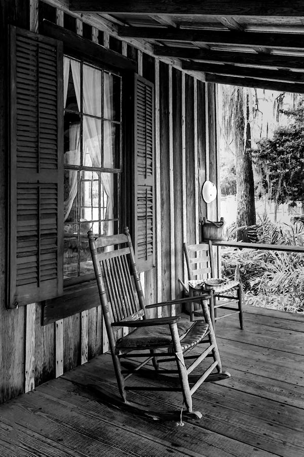 Rocker On The Veranda Photograph  - Rocker On The Veranda Fine Art Print