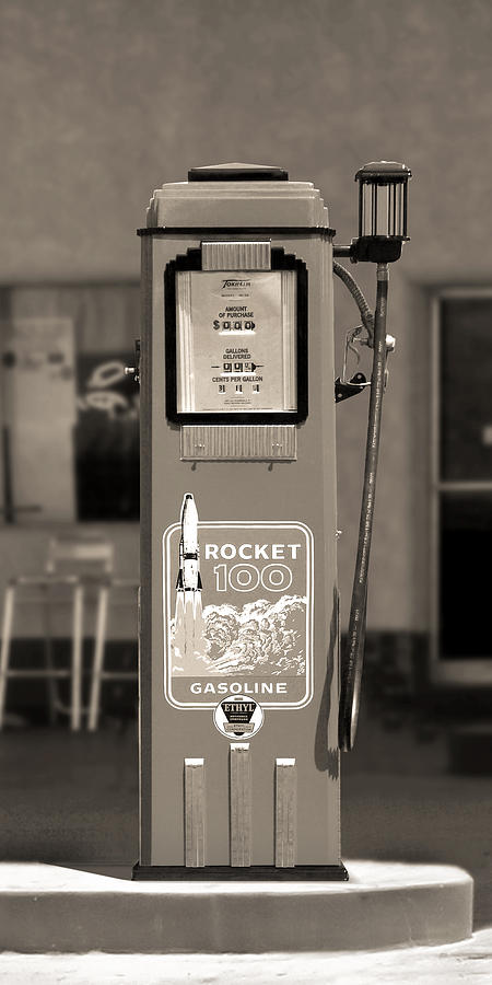 Rocket 100 Gasoline - Tokheim Gas Pump 2 Photograph  - Rocket 100 Gasoline - Tokheim Gas Pump 2 Fine Art Print