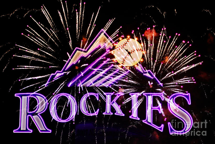 Rockies And Fireworks Photograph  - Rockies And Fireworks Fine Art Print