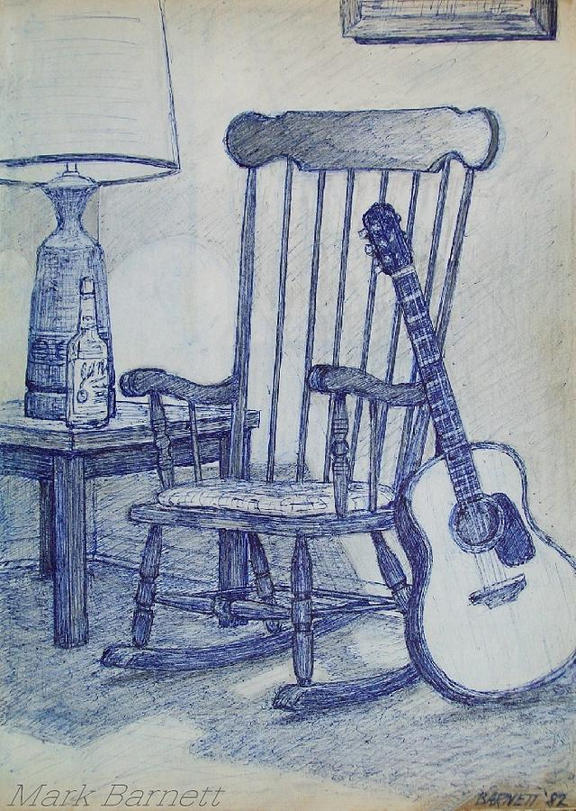rockin chair drawing. Black Bedroom Furniture Sets. Home Design Ideas