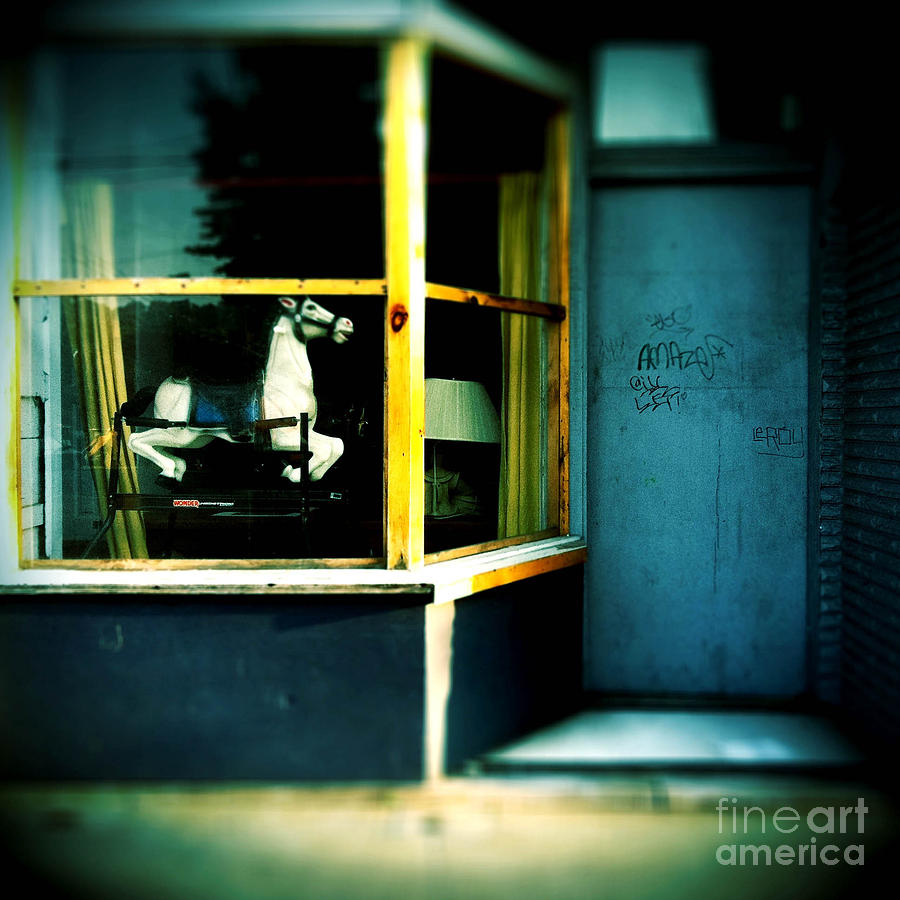 Rocking Horse In Window Photograph