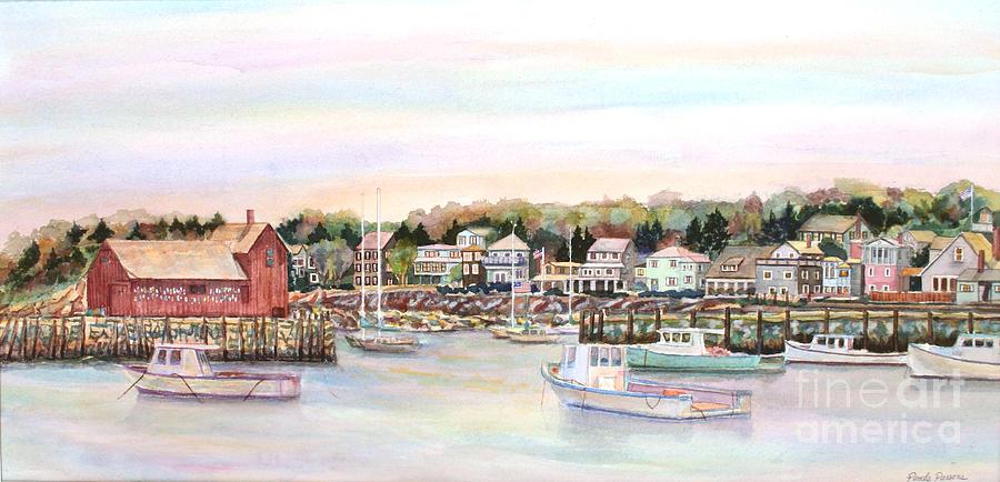 Rockport Harbor Painting - Rockport Harbor Ma by Pamela Parsons