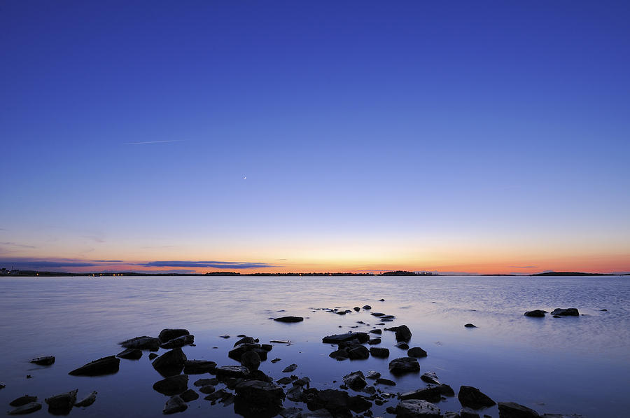 Rocky Beach Sunset Photograph
