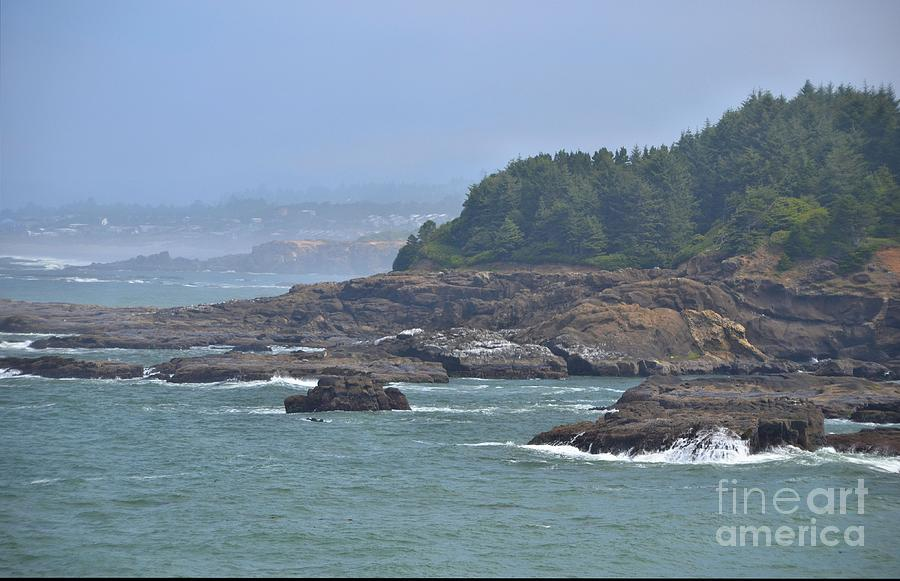 Rocks Photograph - Rocky Coast by Shauna Fackler