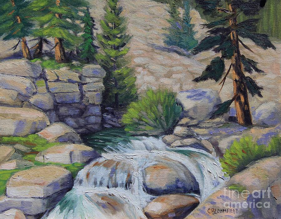 Rocky Falls Of Sonora Pass Painting