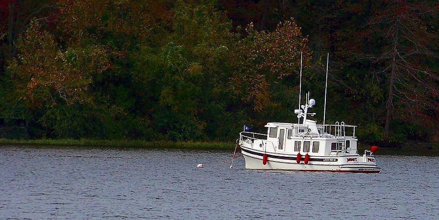 Lake Fall Boat Rocky Fork  Photograph - Rocky Fork Lake by Jenny Bowman