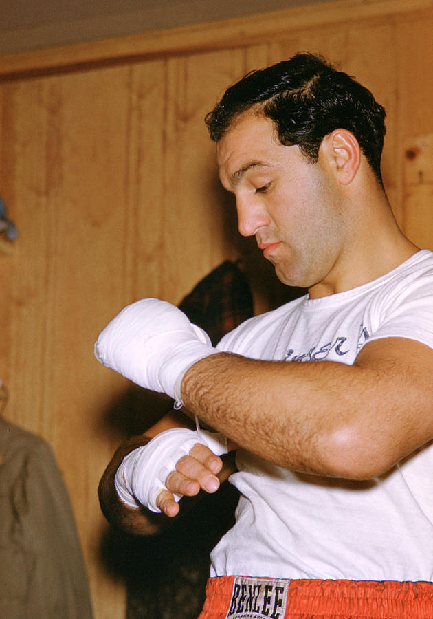 Rocky Marciano Getting Ready Photograph