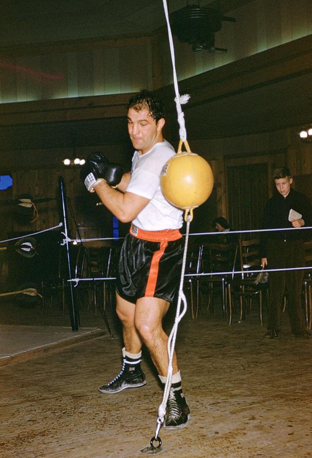Rocky Marciano Training Hard Photograph