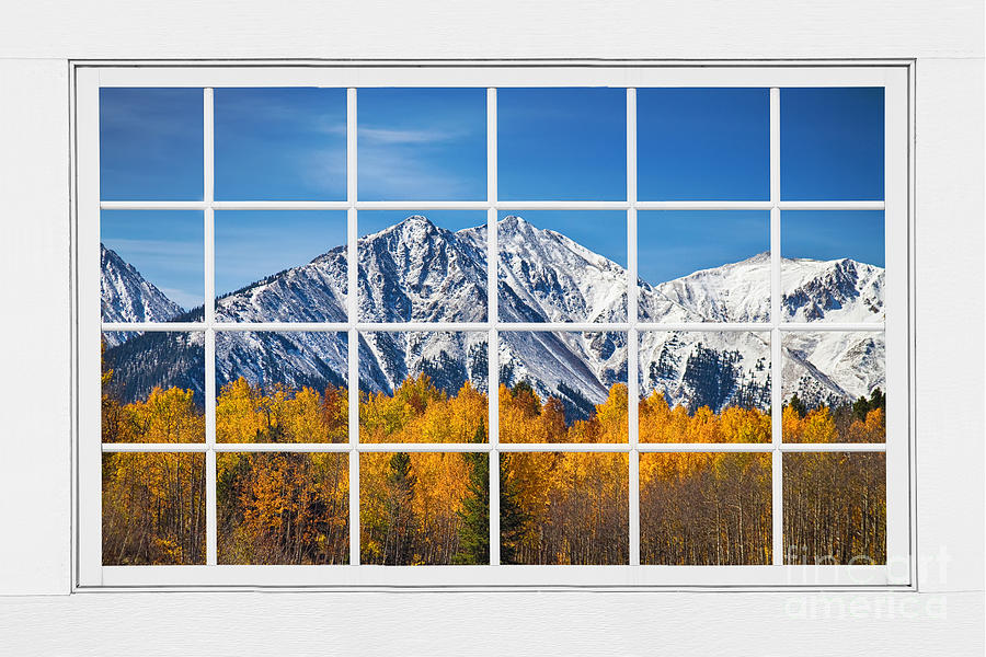 Rocky Mountain Autumn High White Picture Window Photograph