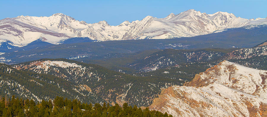 Rocky Mountain Continental Divide Winter Panorama Photograph