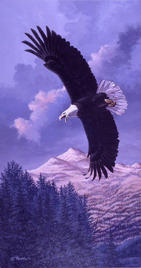 Eagle Painting - Rocky Mountain High by Richard De Wolfe