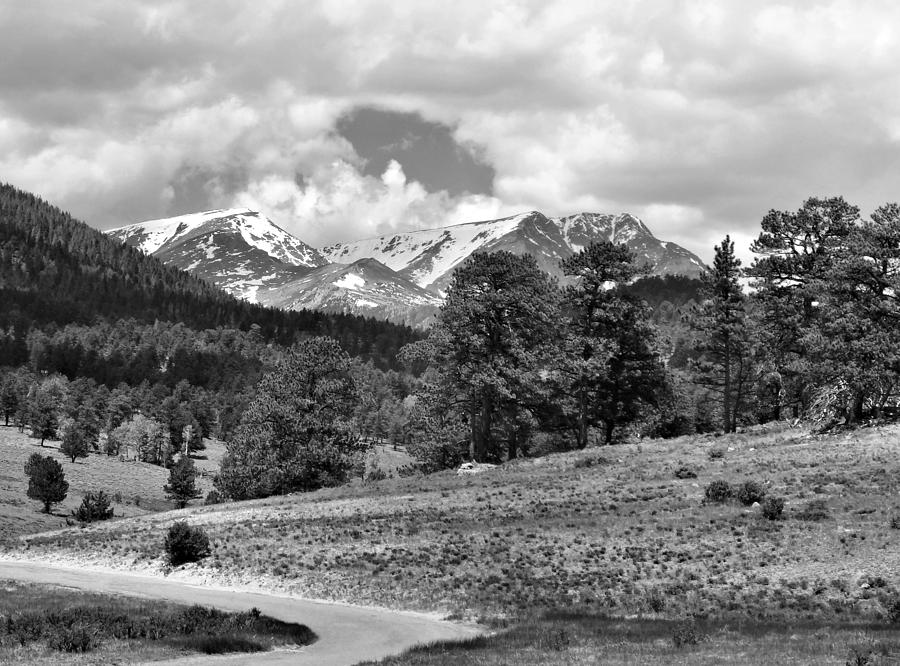 Rocky Mountain National Park In Black And White Photograph  - Rocky Mountain National Park In Black And White Fine Art Print