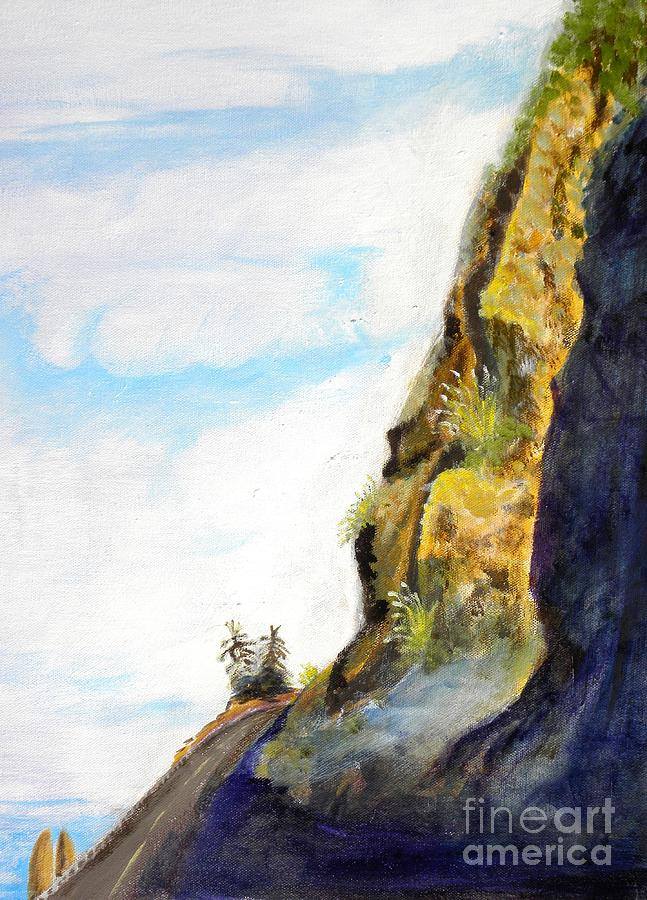 Rocky Point At Big Sur Ca Painting  - Rocky Point At Big Sur Ca Fine Art Print