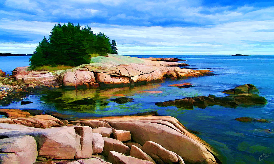 Rocky Point At Great Waas - Painterly Photograph