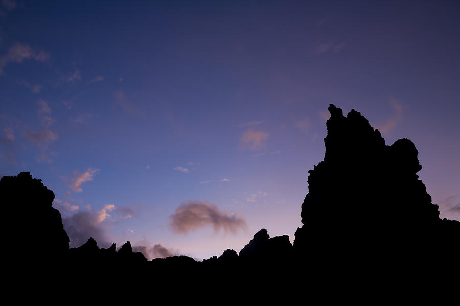 Rocky Purple Sunset Photograph