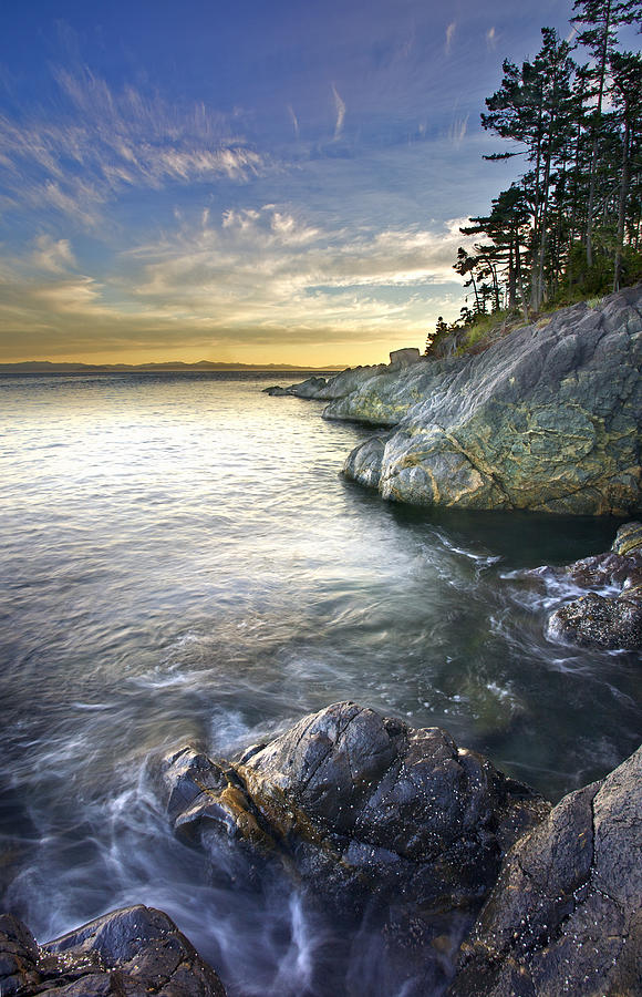 Rocky Shore At Sunset, Juan De Fuca Photograph  - Rocky Shore At Sunset, Juan De Fuca Fine Art Print