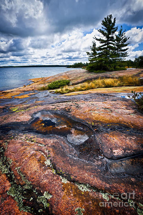 Rocky Shore Of Georgian Bay Photograph  - Rocky Shore Of Georgian Bay Fine Art Print