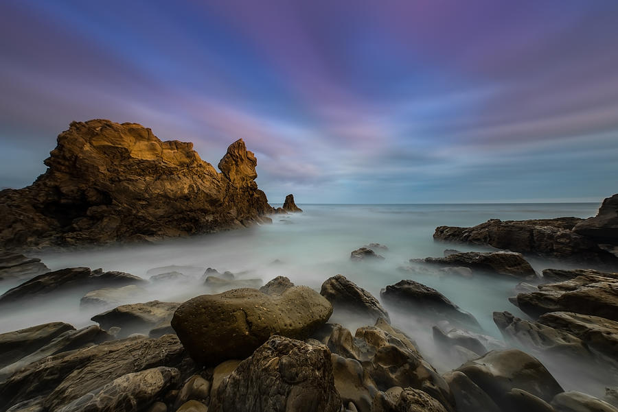 Larry Marshall Photography Photograph - Rocky Southern California Beach by Larry Marshall