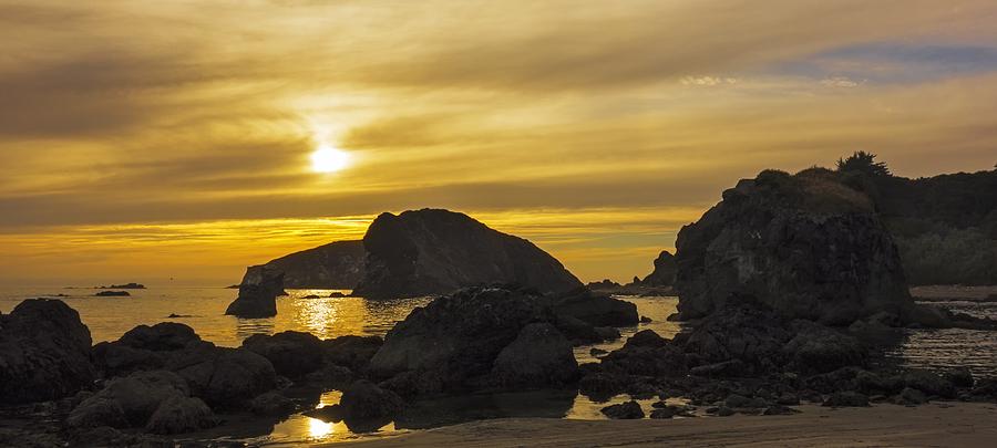 Rocky Sunset Photograph