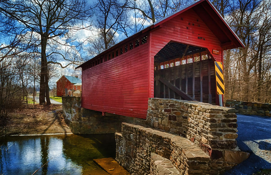 Joan Carroll Photograph - Roddy Road Covered Bridge by Joan Carroll