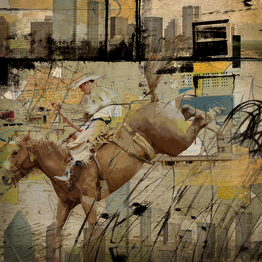 Rodeo Abstract 001 Painting By Corporate Art Task Force