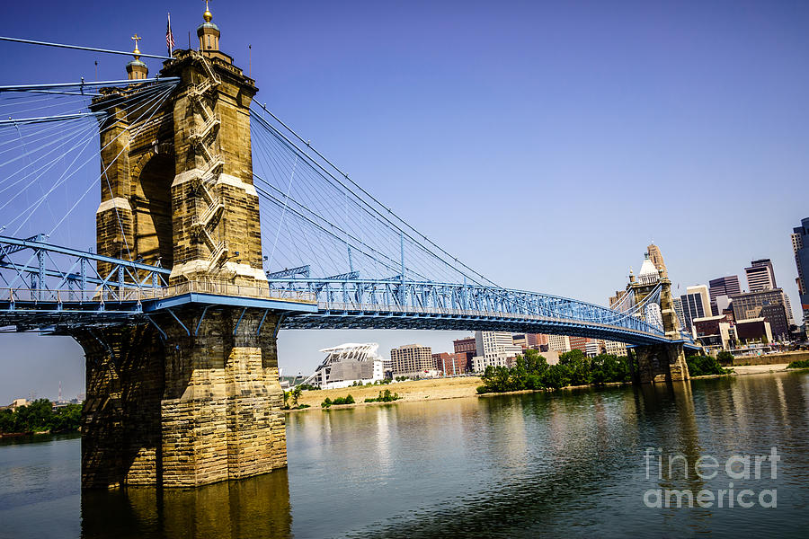 Roebling Bridge In Cincinnati Ohio Photograph