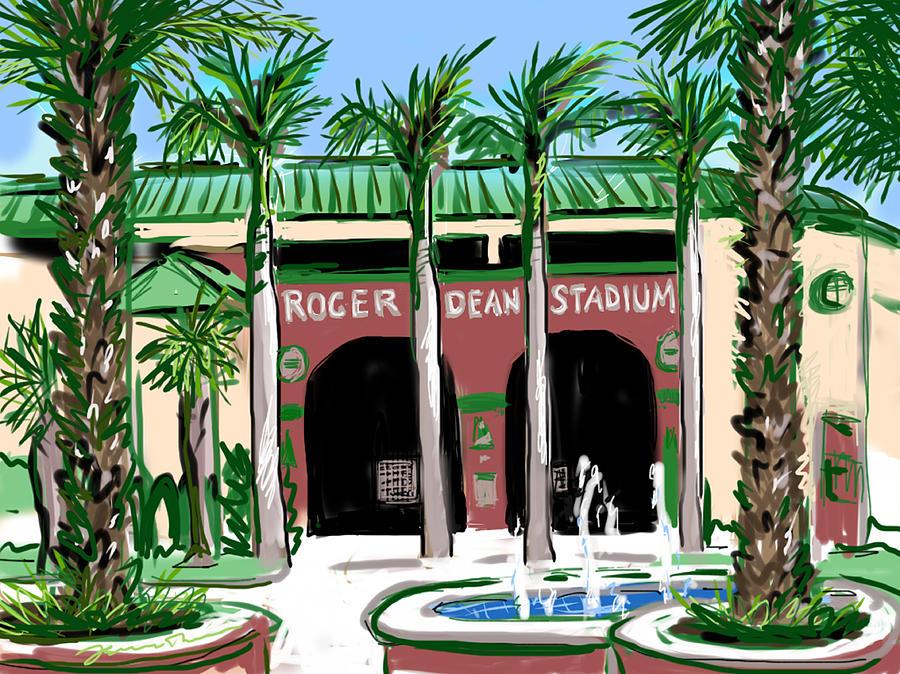 Roger Dean Stadium Painting