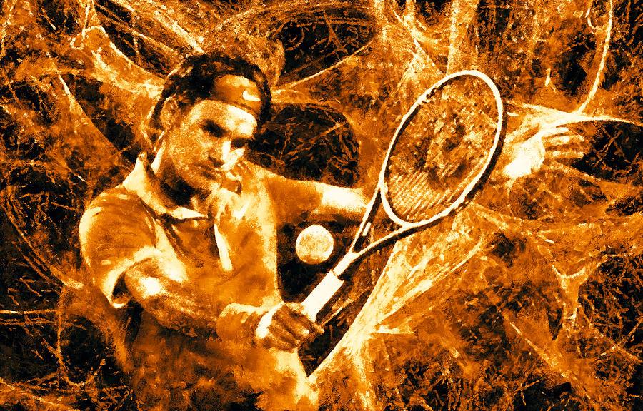 Roger Federer Clay Digital Art