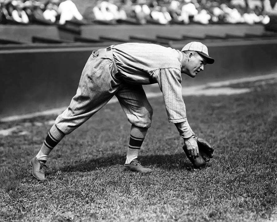 Retro Images Archive Photograph - Rogers Hornsby Fielding Practice by Retro Images Archive