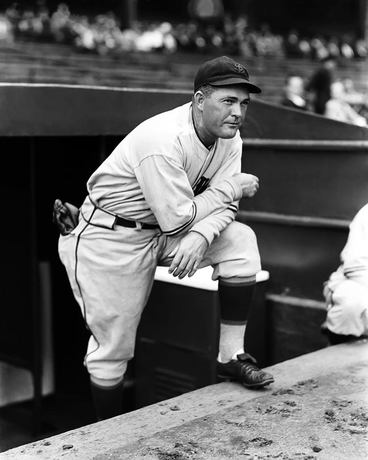 Rogers Hornsby Leaning On One Knee Photograph