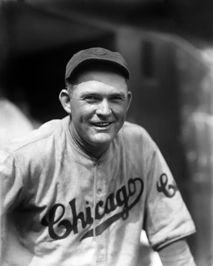 Rogers Hornsby Smiling In Cubs Jersey Photograph