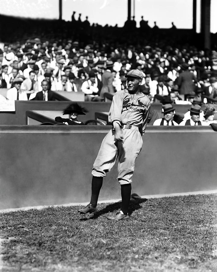 Rogers Hornsby Warm Up Throws Photograph