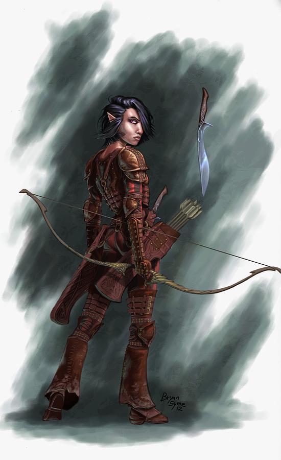 Archer Digital Art - Rogue by Bryan Syme