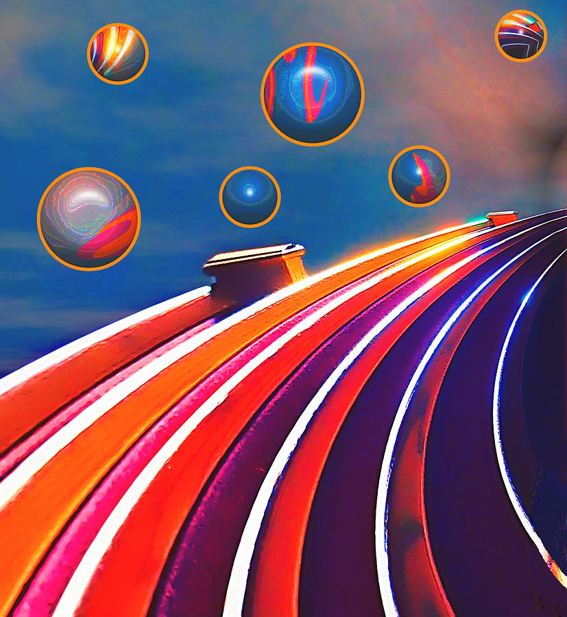 Abstract Digital Art - Rollerball by Wendy J St Christopher