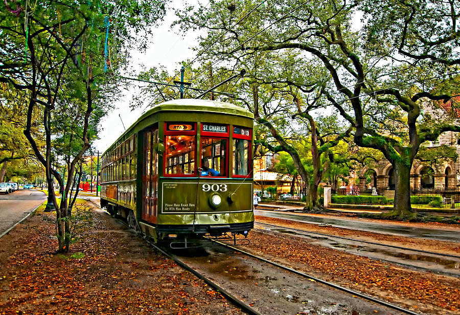 Rollin Thru New Orleans Painted Photograph  - Rollin Thru New Orleans Painted Fine Art Print