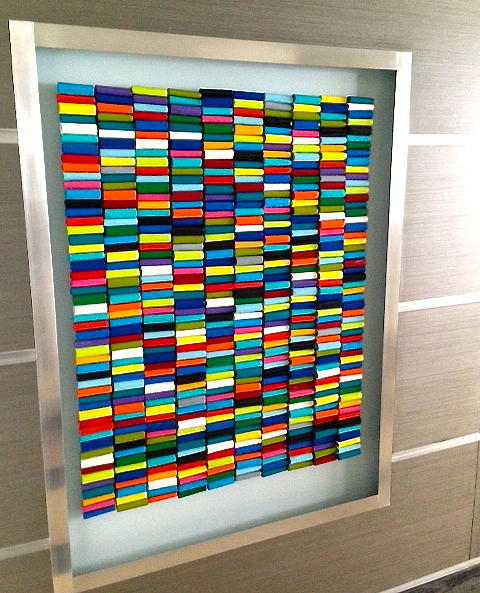 Wall Sculpture Sculpture - Rolls Of Color by Rosemary Pierce