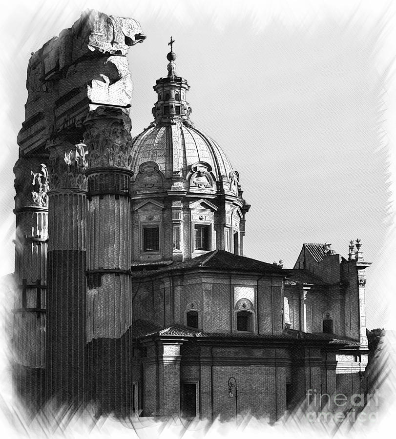 Roma Black And White Photograph