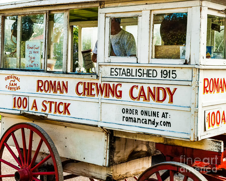 Roman Chewing Candy Nola Photograph