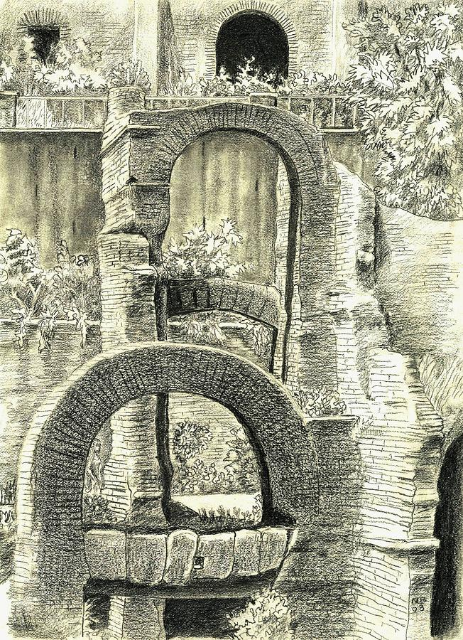 Roman Forum Ruins Drawing