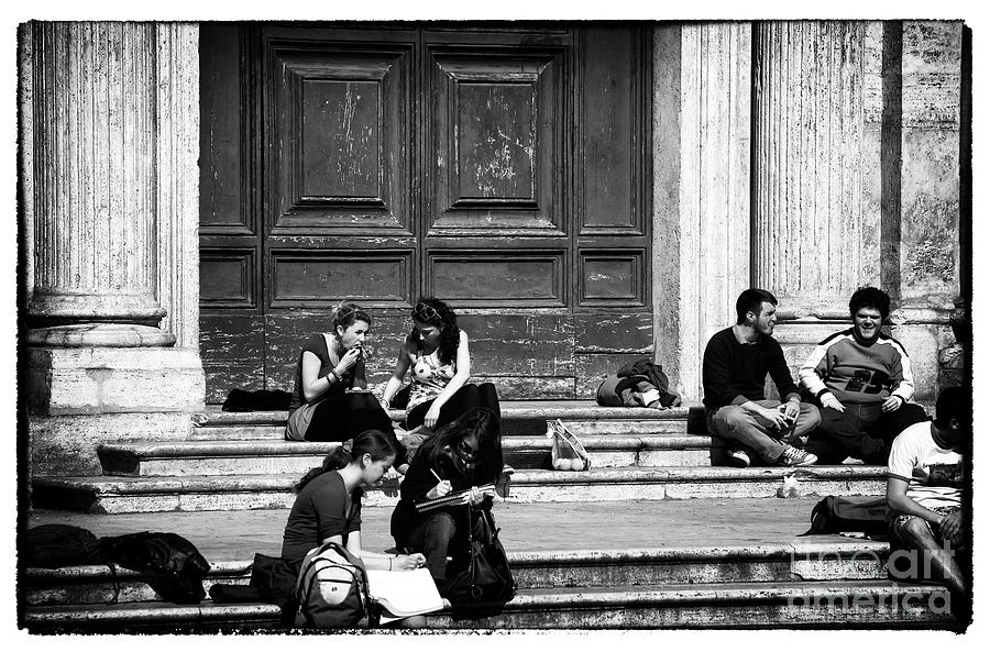 Roman Study Break Photograph  - Roman Study Break Fine Art Print