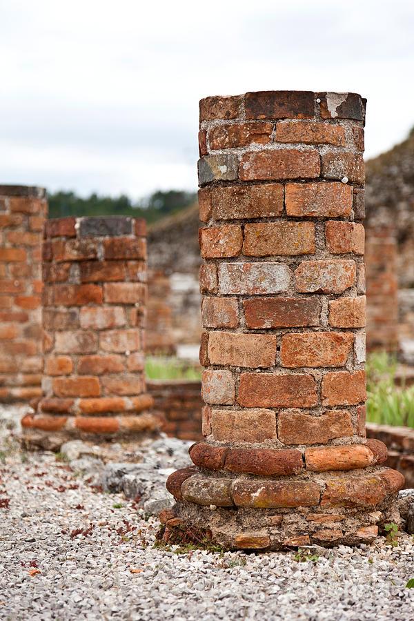 Roman Villa Columns Photograph