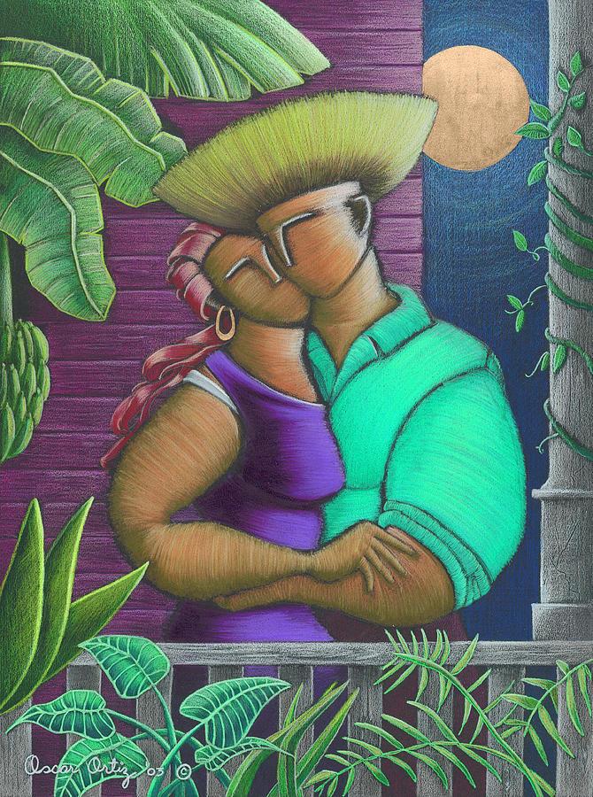 Puerto Rico Painting - Romance Jibaro by Oscar Ortiz