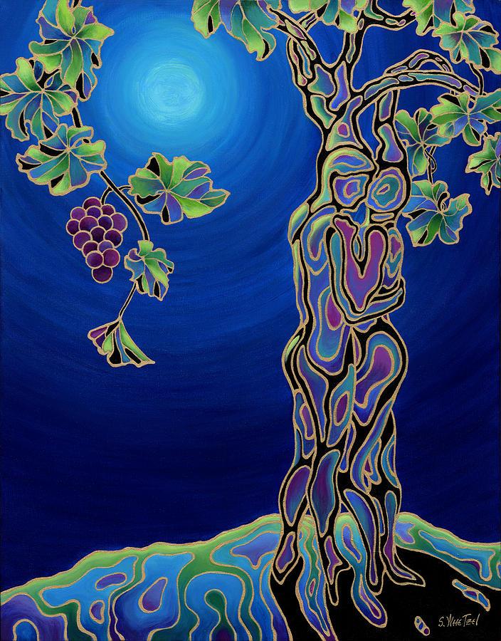 Romance On The Vine Painting