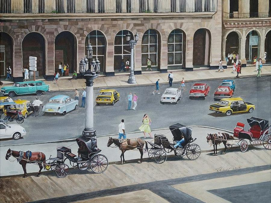 Cityscape Painting - Romancing Havana by Pam Kaur