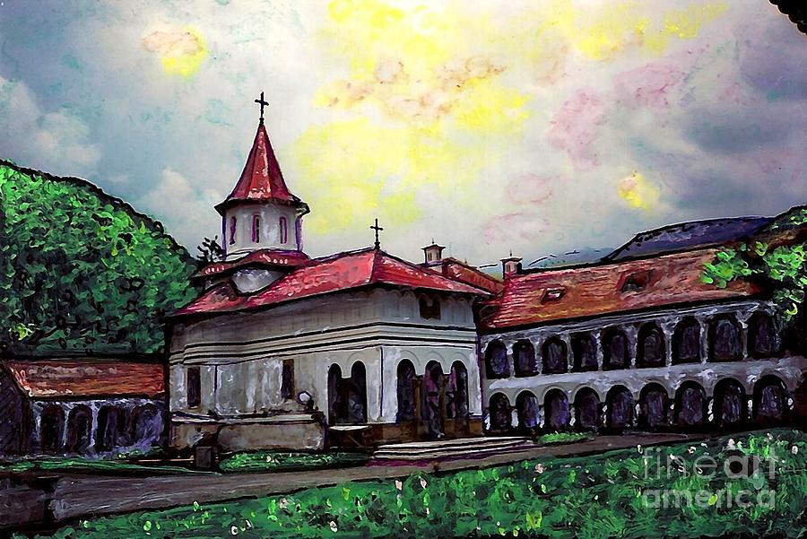 Romanian Monastery Mixed Media