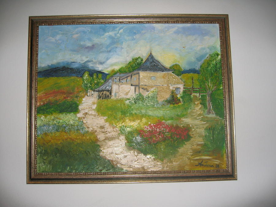 Romanian Village House Painting