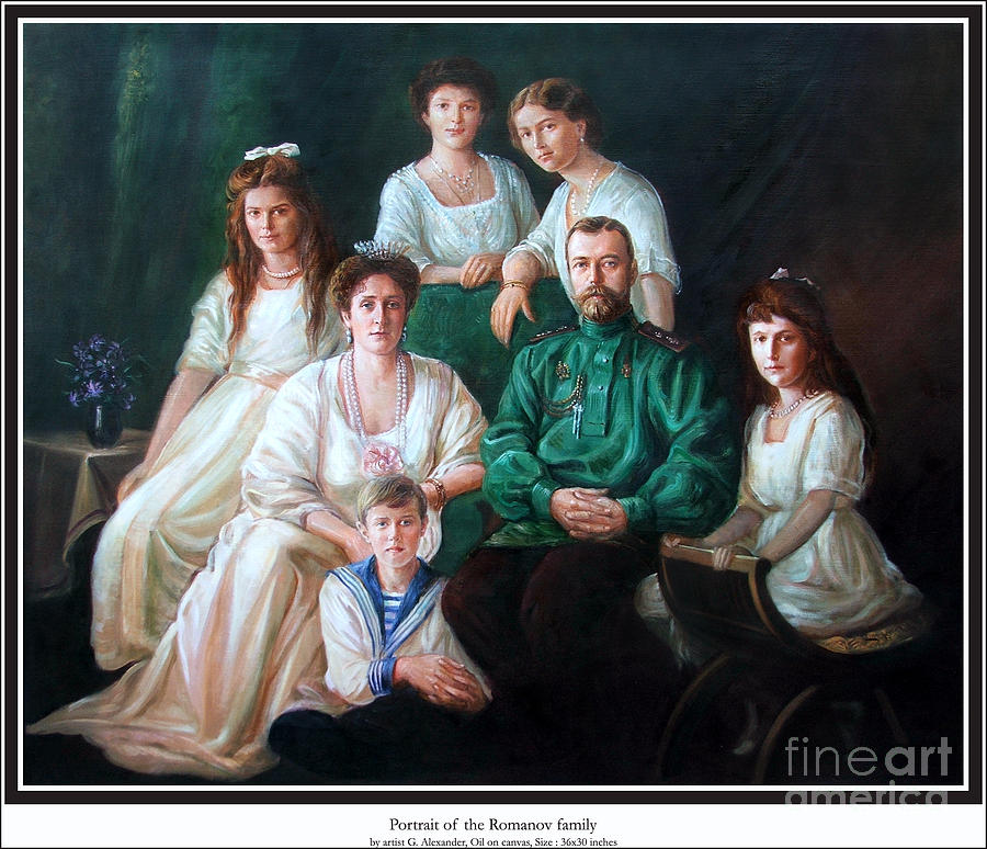 Romanov Family Portrait Painting  - Romanov Family Portrait Fine Art Print