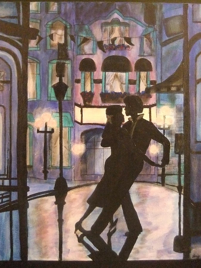 Romantic Dance Painting  - Romantic Dance Fine Art Print